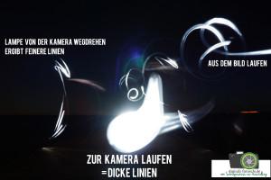 Lichtmalerei Strichgröße