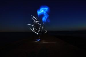 Abstrakte Lichtmalerei - Nachtfotografie